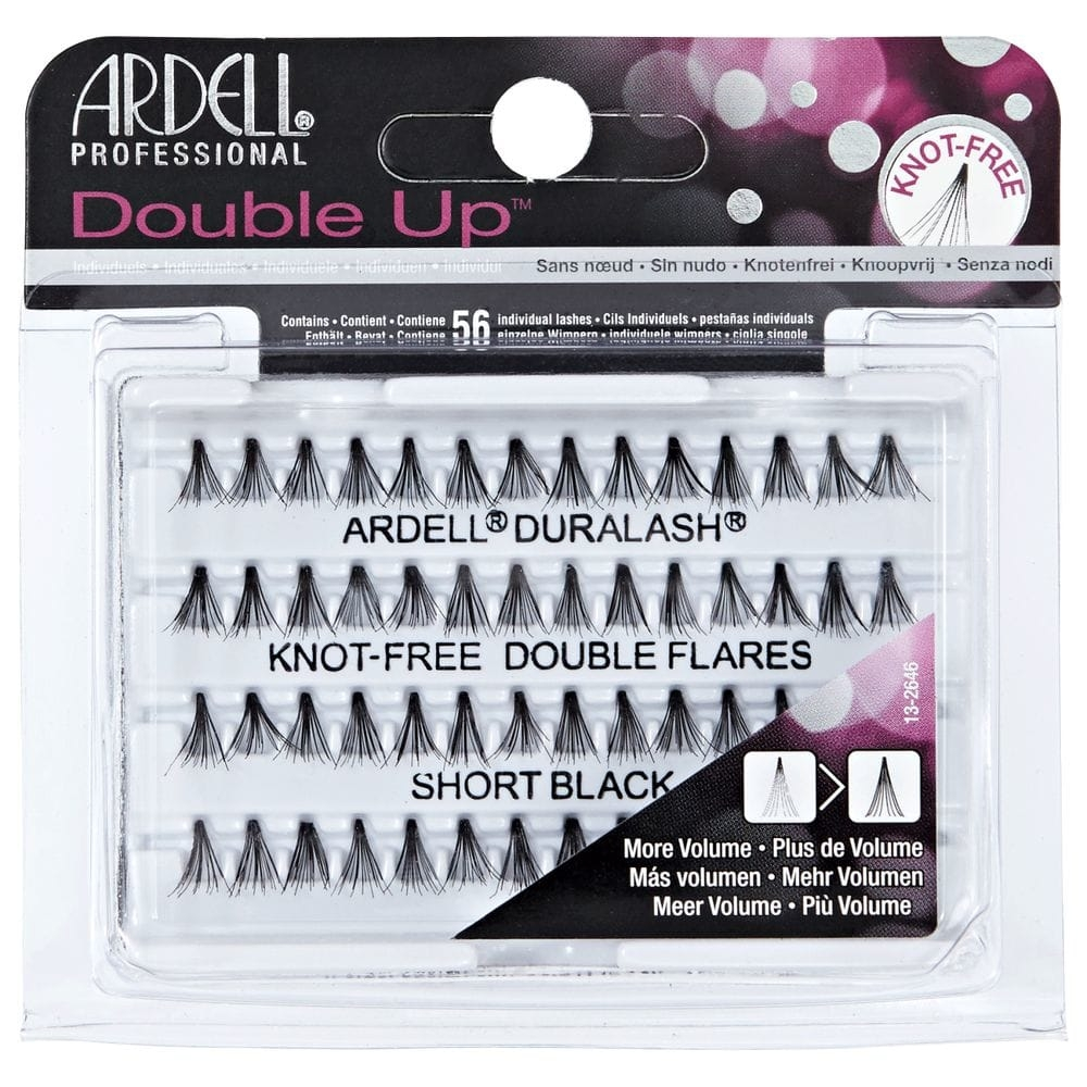 Ardell Duralash 56 Double Up Knot-Free Double Flares Short Black
