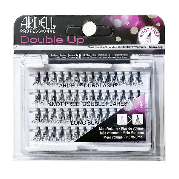 Ardell Duralash 56 Double Up Knot-Free Double Flares Long Black