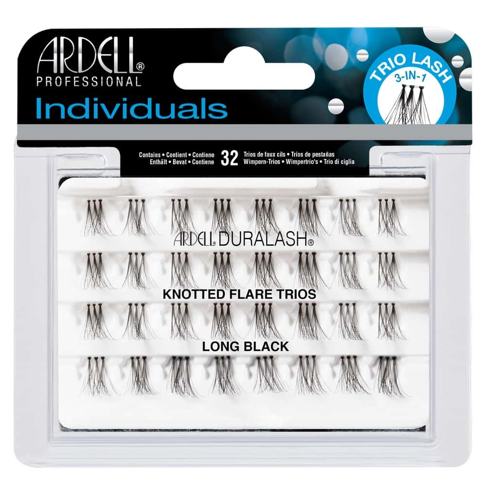 Ardell Duralash 32 Individual Knotted Flare Trios Long Black Eyelashes