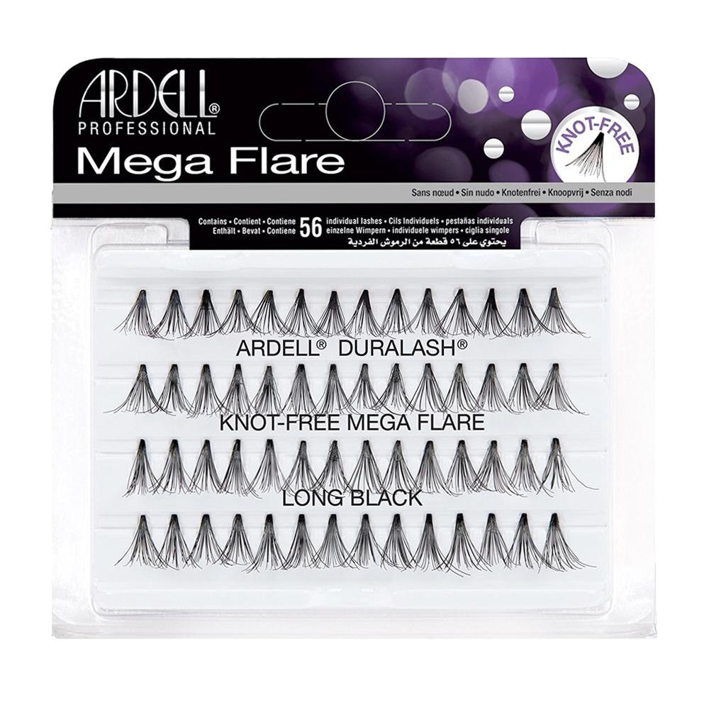 Ardell Duralash 56 Mega Flare Individuals Knot Free Long Black
