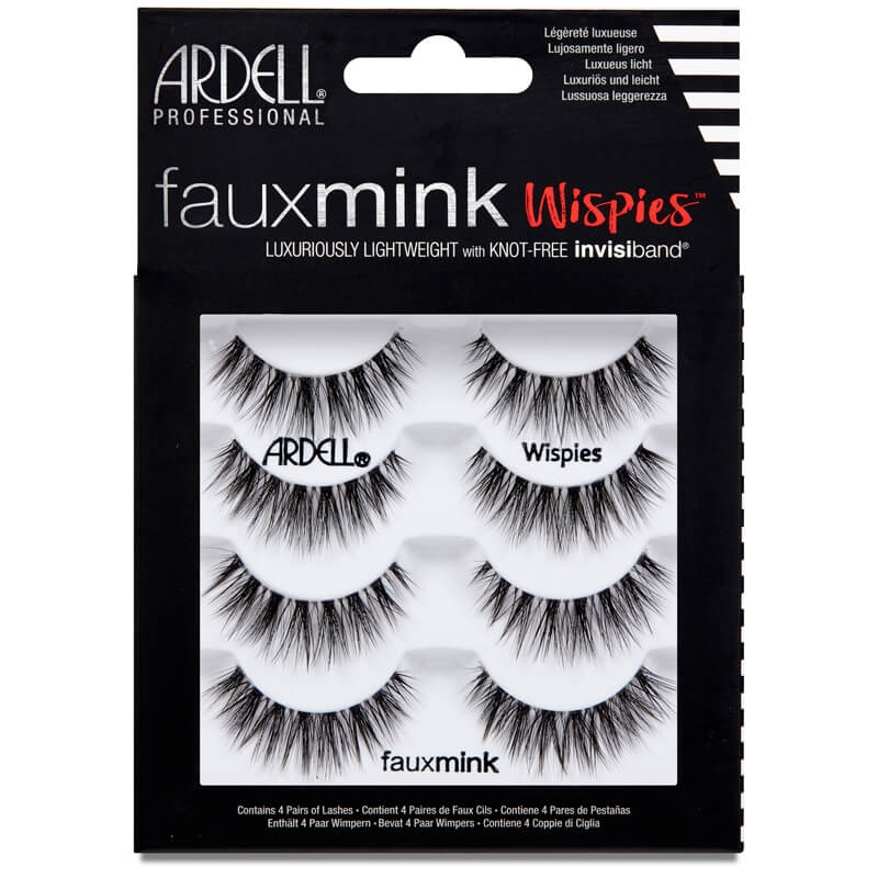 Ardell Faux Mink Wispies 4 Pairs Of Lashes