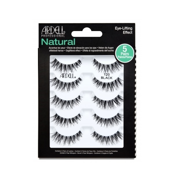 Ardell Natural 120 Black 5 Pairs Of Lashes