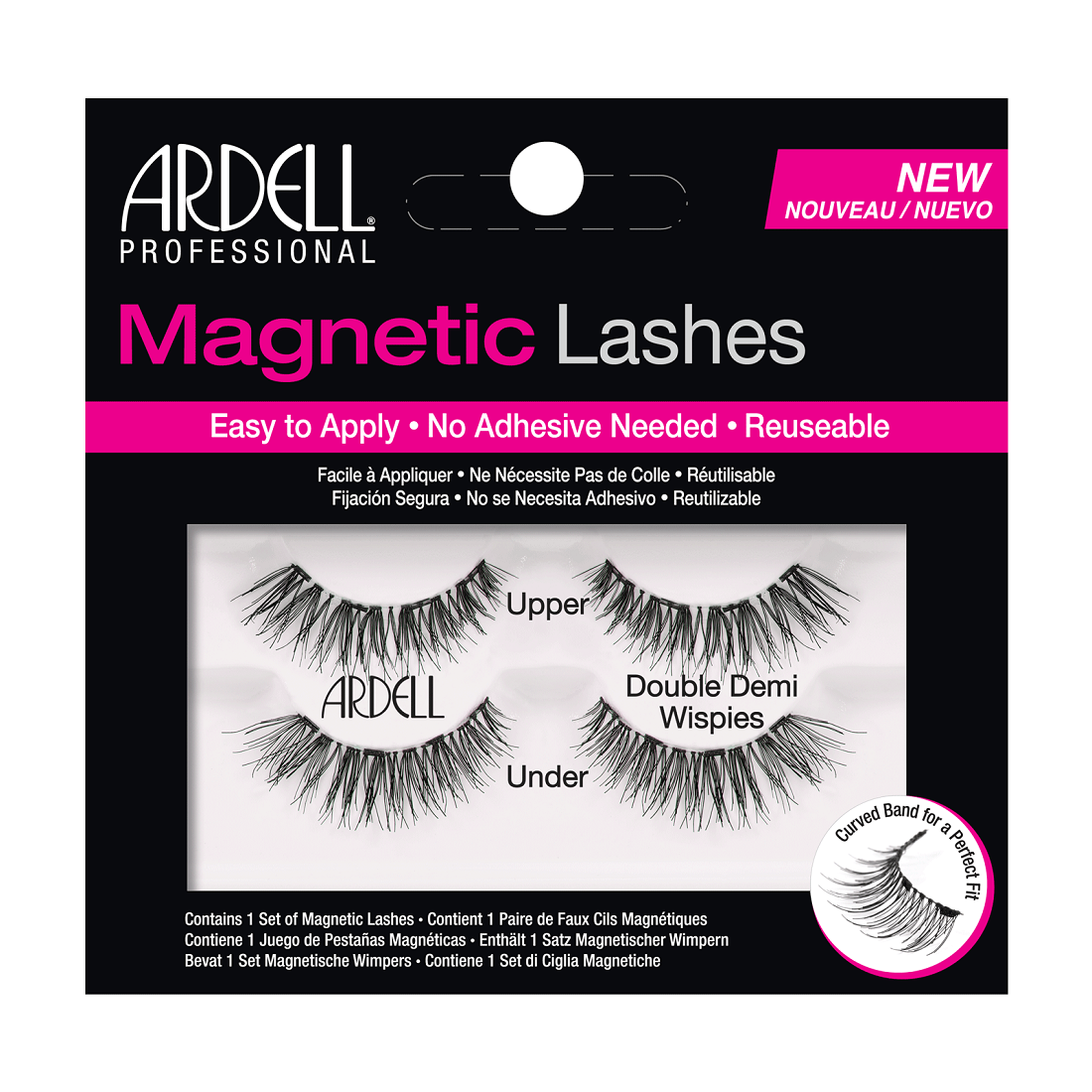Ardell Double Demi Wispies Magnetic Eyelashes Black