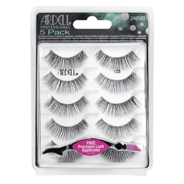 Ardell 5Pack Lashes 105 & Free Llash Applicator