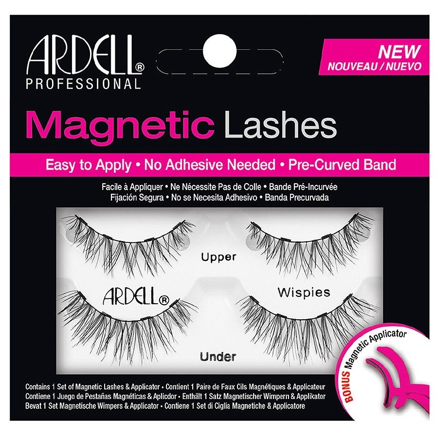Ardell Magnetic Wispies Black Eyelashes + Magnetic Applicator