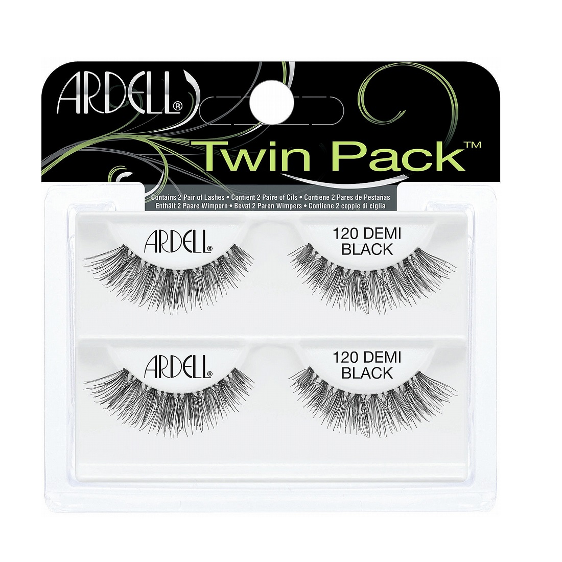 Ardell Twin Pack of 2 Lashes 120 Demi Black
