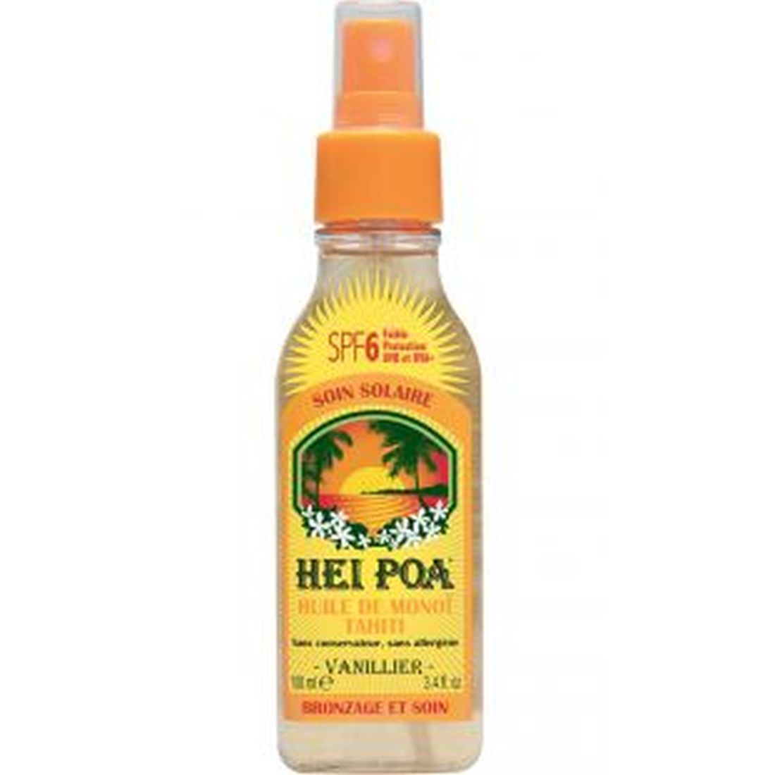 Hei Poa Tahiti Monoi Oil Vanilla Spray SPF6 100ml