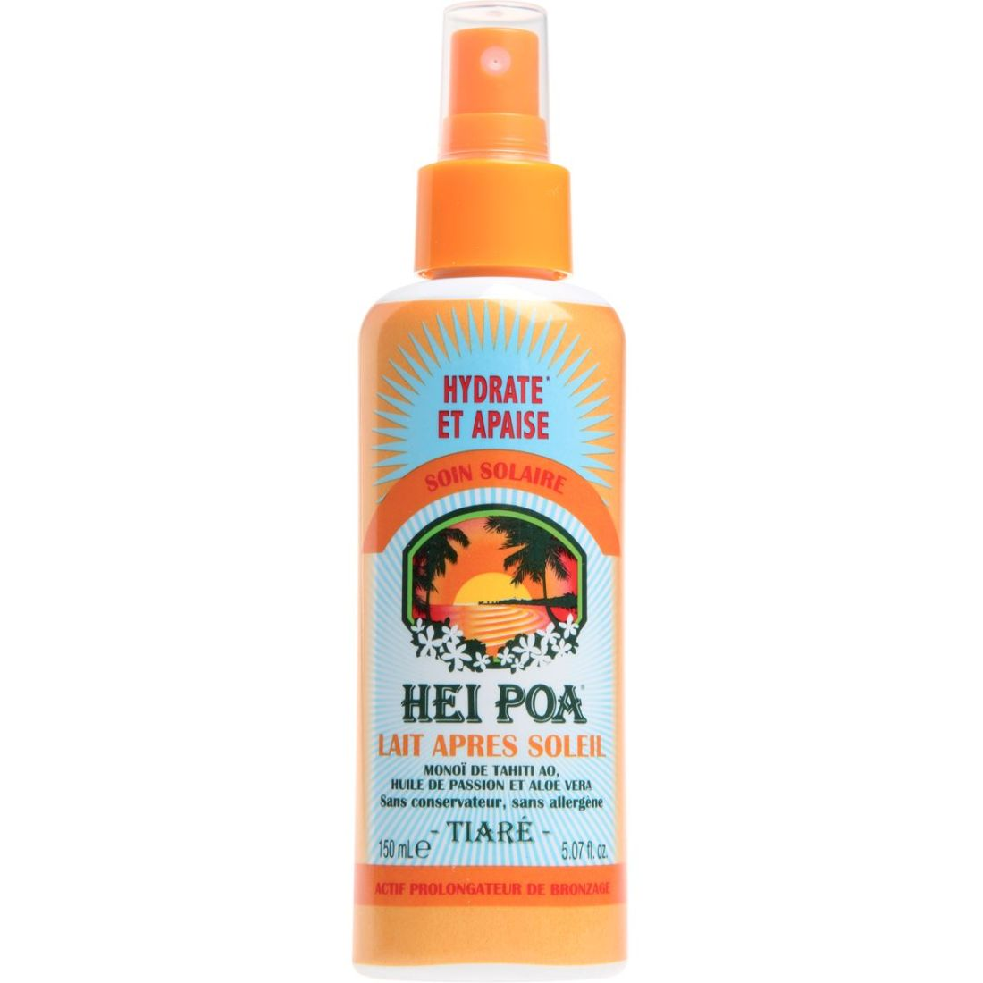 Hei Poa Tahiti Monoi After Sun Milk Tiare Spray 150ml
