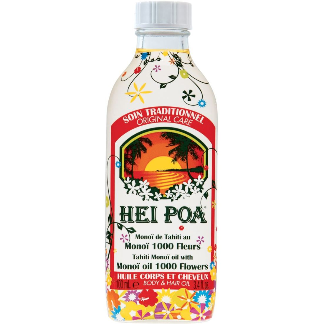 Hei Poa Pure Tahiti Monoi Oil 1000 Flowers 100ml