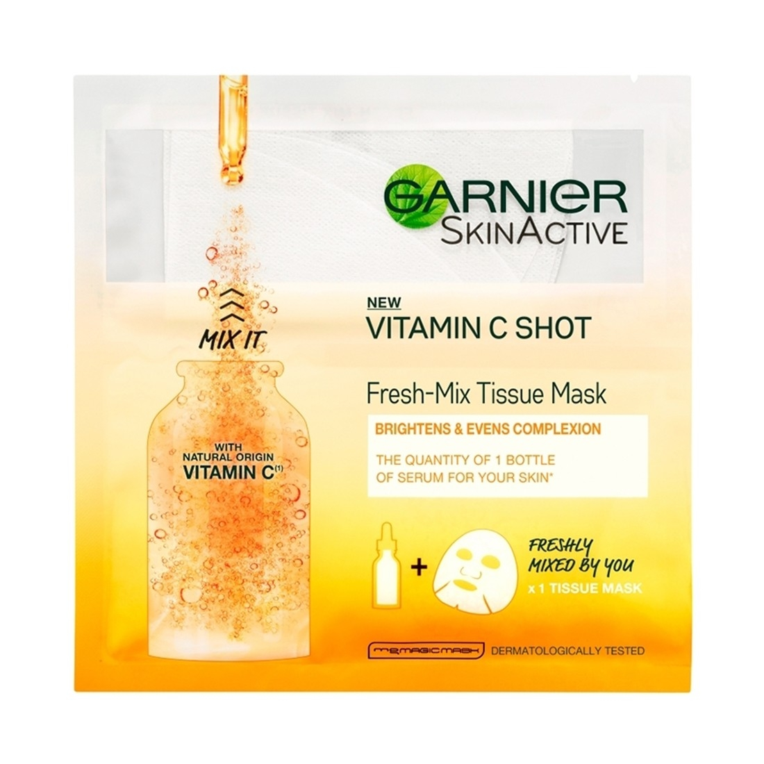 Garnier Skin Active Vitamin C Shot Fresh-Mix Tissue Mask 33g