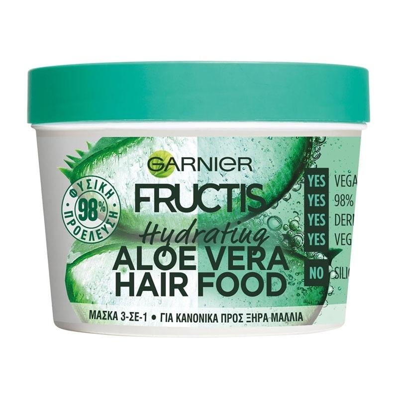 Garnier Fructis Hair Food Mask 3 in 1 Hydrating Aloe Vera Για Κανονικά Προς Ξηρά Μαλλιά 390ml