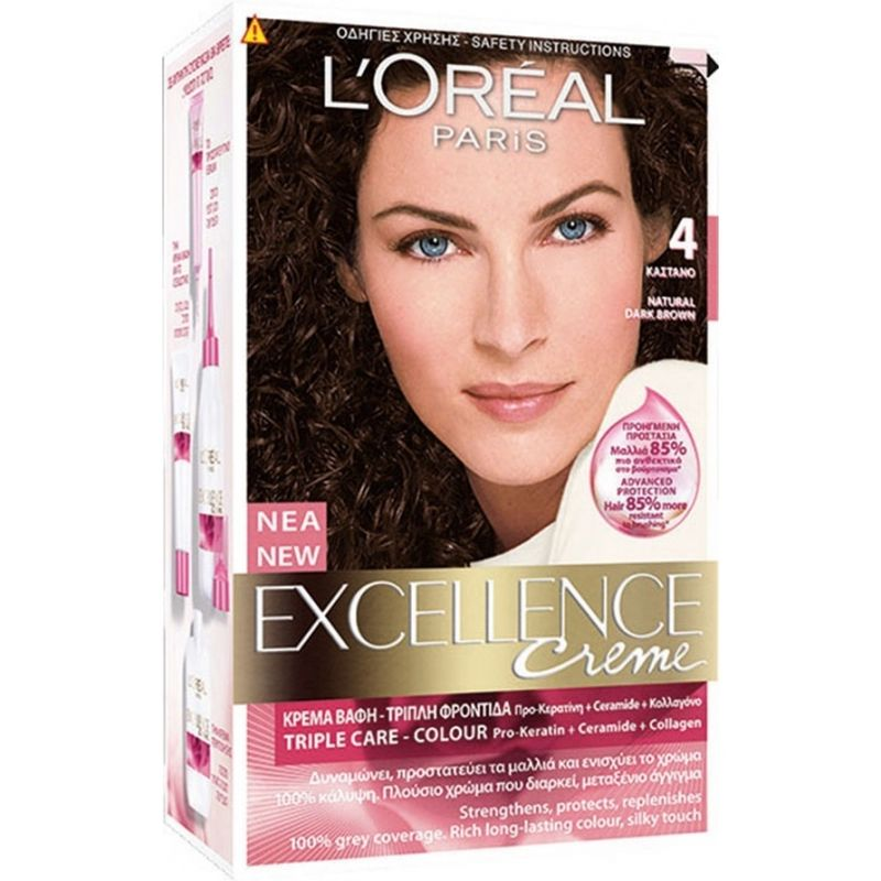 L'Oréal Excellence Cream No4 Καστανό 48ml
