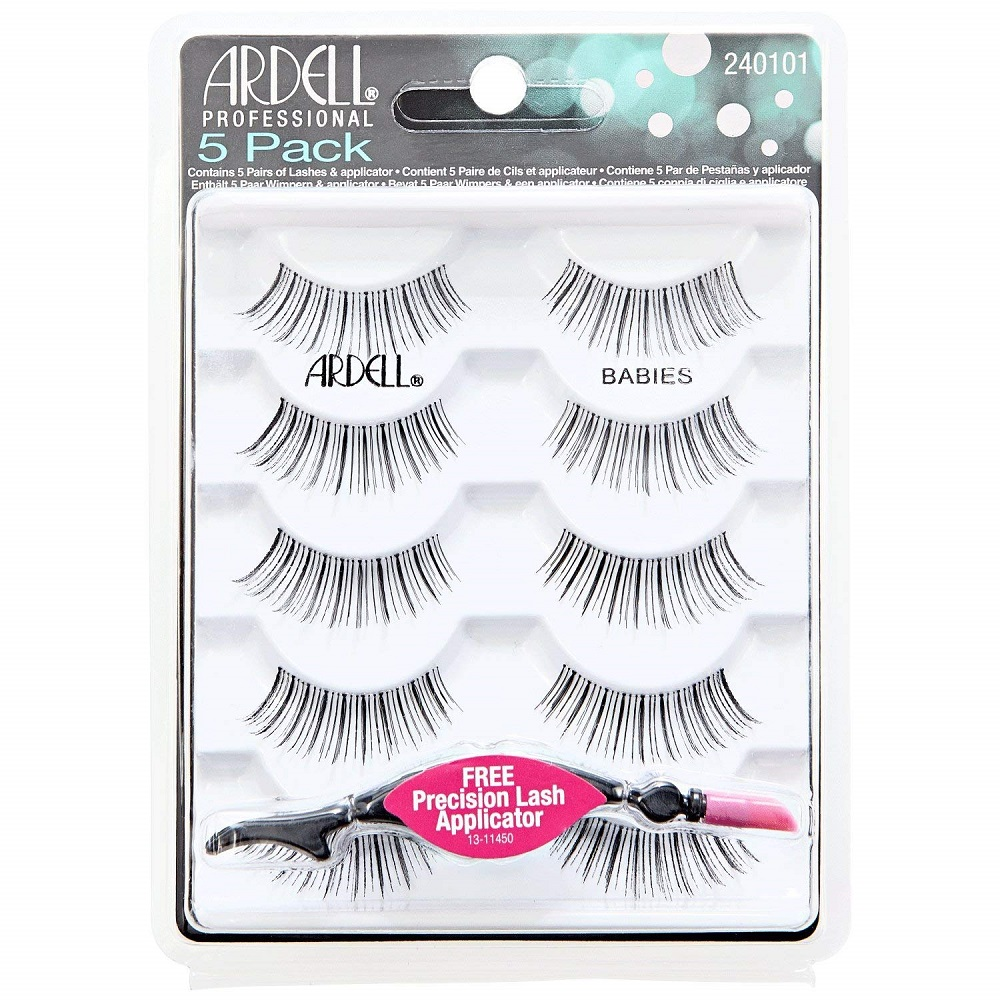 Ardell 5Pack Black Babies Lashes & Free Llash Applicator