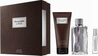 Abercrombie & Fitch First Instinct For Him Eau de Toilette 100ml, Eau de Toilette 15ml & Hair & Body Wash 200ml