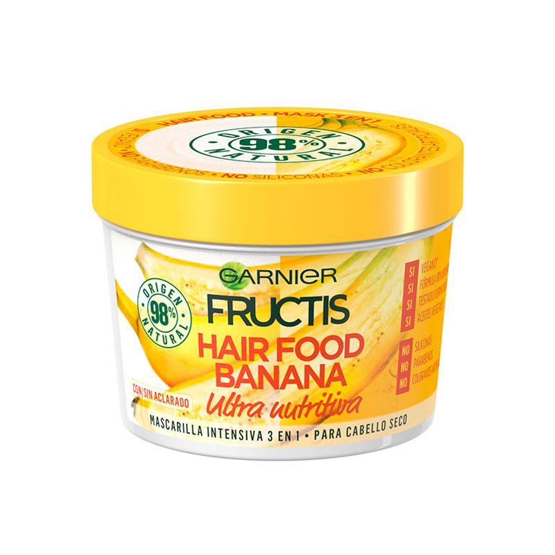 Garnier Fructis Hair Food Mask 3 in 1 Banana για Ξηρά Μαλλιά 390ml