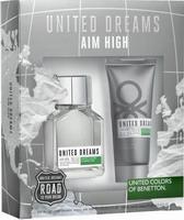 Benetton United Dreams Aim High Set Eau de Toilette 100ml & Aftershave Balm 100ml