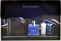Bvlgari Blv Eau De Toilette 100ml, After Shave Balm 75ml, Shower Gel 75ml & Bag