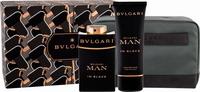 Bvlgari Man In Black Eau De Parfum 100ml, Aftershave Balm 100ml & Cosmetic Bag