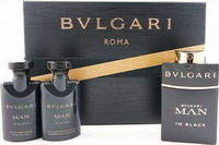 Bvlgari Man In Black Eau de Parfum 60ml & Aftershave balm 40ml & Shower Gel 40ml