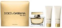 D&G THE ONE Eau de Parfum  75ml,body lotion 100ml,shower gel 100ml
