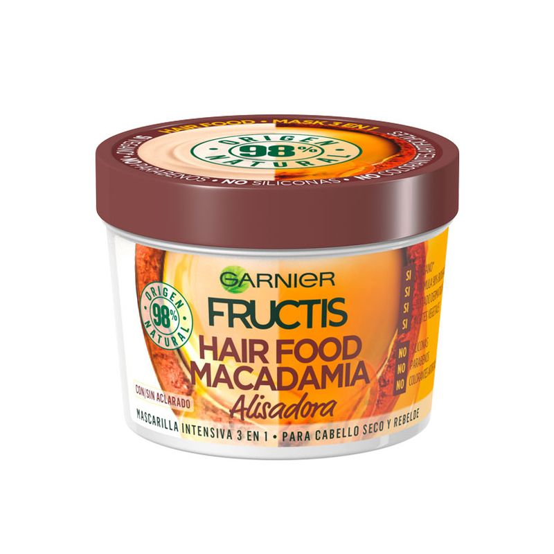 Garnier Fructis Hair Food Mask 3 in 1 Macadamia για Ξηρά και Ατίθασα Μαλλιά 390ml