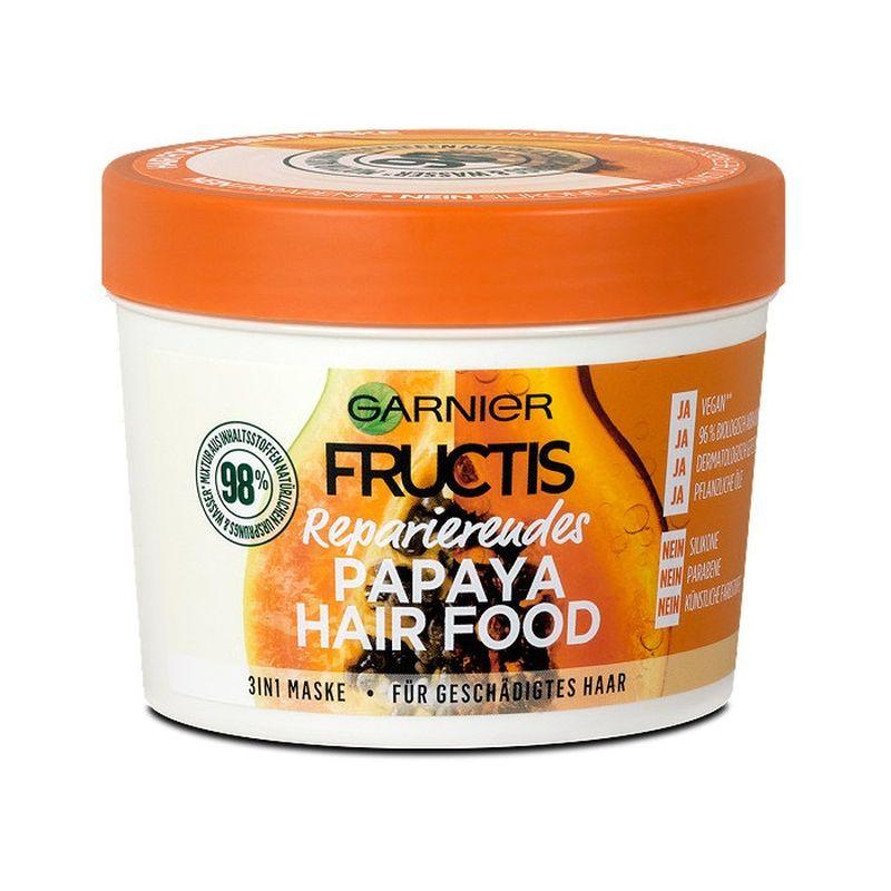 Garnier Fructis Hair Food Mask 3 in 1 Papaya για Κατεστραμμένα Μαλλιά 390ml
